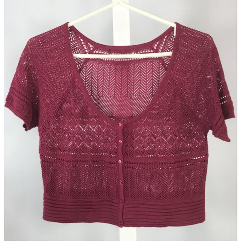 Rose Crochet Bolero Cardigan - Discoveries size S, M