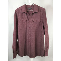 Mountain Ridge Burgundy Flannel Shirt - size L