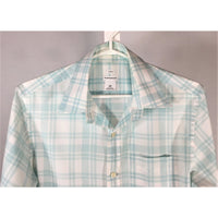 Club Monaco Aqua Plaid Shirt - size S
