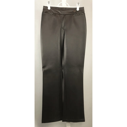 Jean Works Brown Vinyl Pants - Discoveries size S