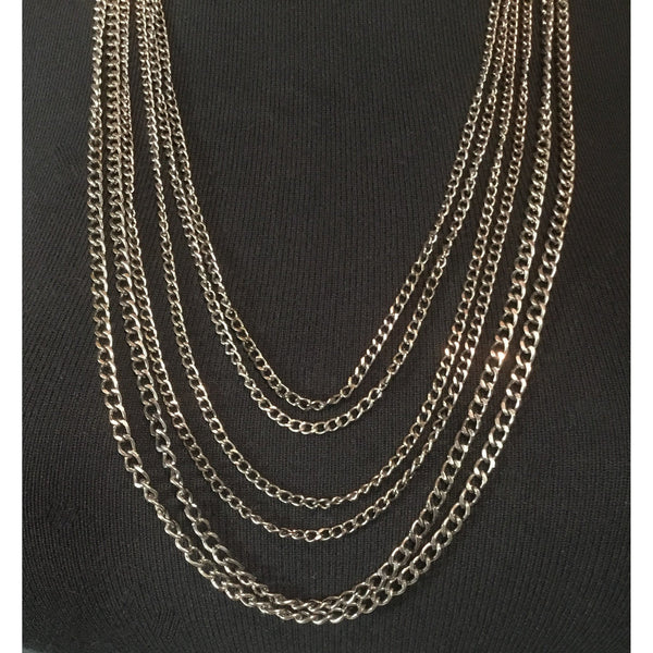 Six Strands 'Antiqued Metal' Necklace
