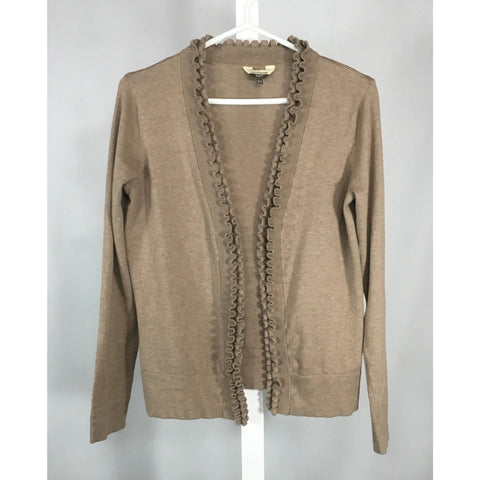 Denver Hayes Latte Ruffled Cardigan - Discoveries size M, L