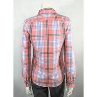 Tommy Hilfiger Peach Plaid Shirt - Discoveries size S
