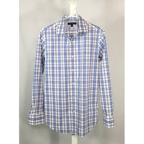 Banana Republic Blue and Purple Plaid Shirt - size S, M