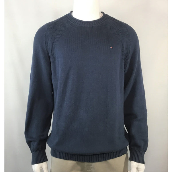 Tommy Hilfiger Blue Cotton Sweater - size XL/XXL