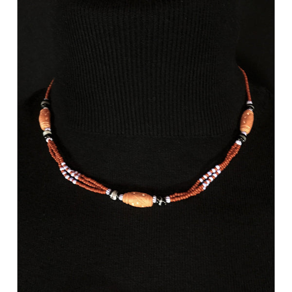 Ethnic style beaded necklace