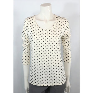 Ann Taylor polka dot tee front view