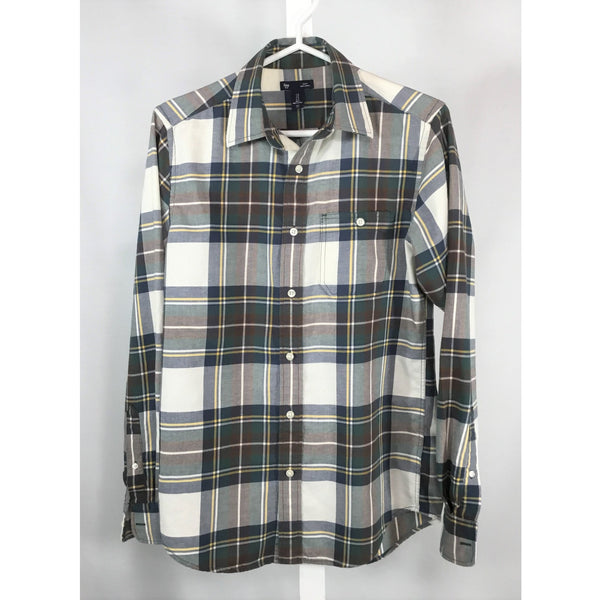 Gap Plaid Shirt in Earth Tones - size S
