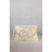 Goldco ivory beaded bag