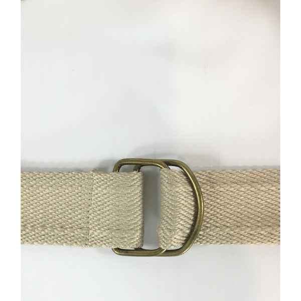 Tan Woven Belt with D-Rings