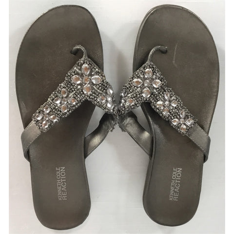Reaction Sparkly Pewter Sandals - size 8 / 39