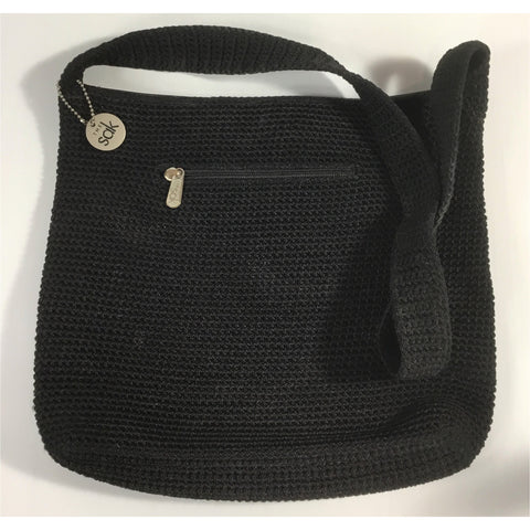 The Sak Crochet Black Shoulder Bag