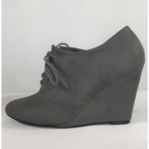 H & M Grey Wedge Oxfords - size 7 / 38