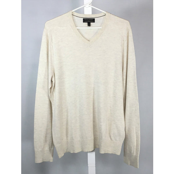 Banana Republic Off-White V-Neck Sweater - size S