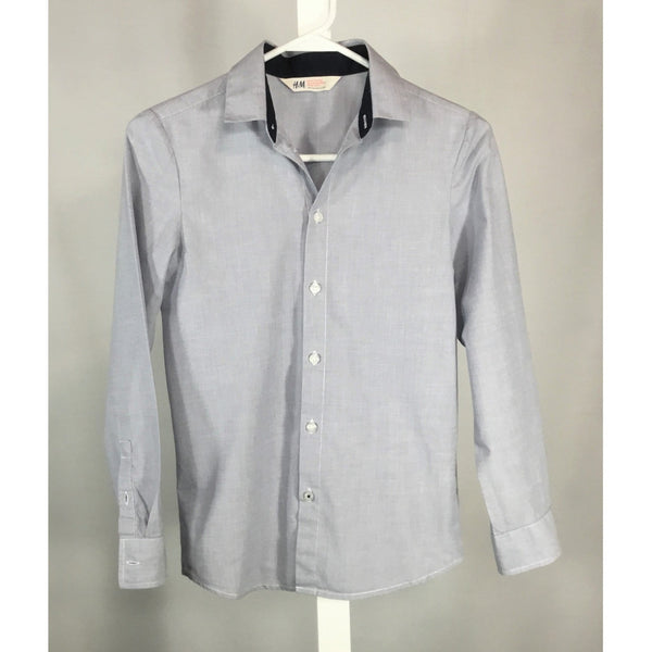 H & M Light Blue Dress Shirt - size 11/12 years