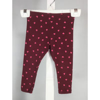 George Leggings with Pink Hearts - size 12 to 18 months