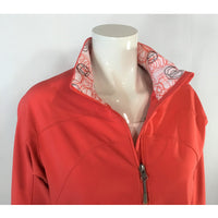 Avia orange jacket collar detail