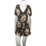 Urban Outfitters Flowered Black Tunic Dress - Discoveries size S