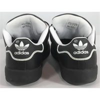 Adidas black shoes heel view