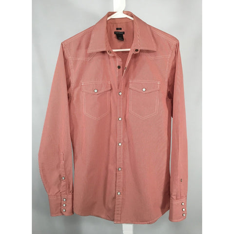 Club Monaco Red Striped Western Shirt - size S