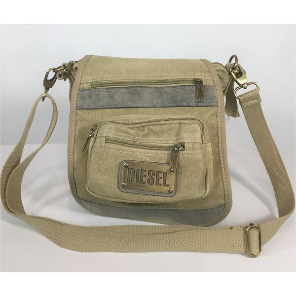 Diesel canvas and suede bag