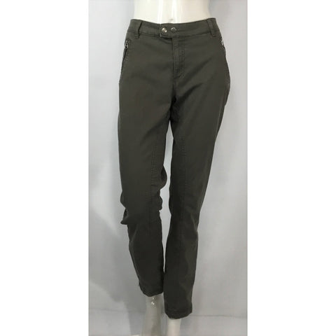 L.O.G.G.  Olive Zipper Pants - Discoveries size M
