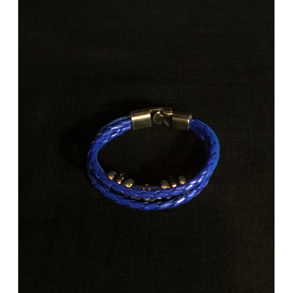 Royal Blue Faux Leather Bracelet