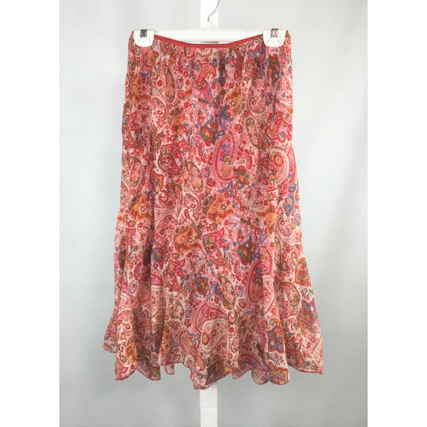 Ark pink paisley skirt front view