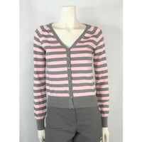 Bluenotes cotton striped cardigan