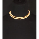 Double strand 'antique pearl' necklace