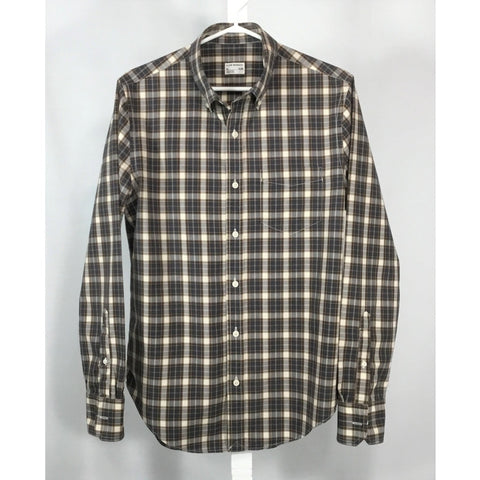 Club Monaco Blue and Brown Plaid Shirt - size M