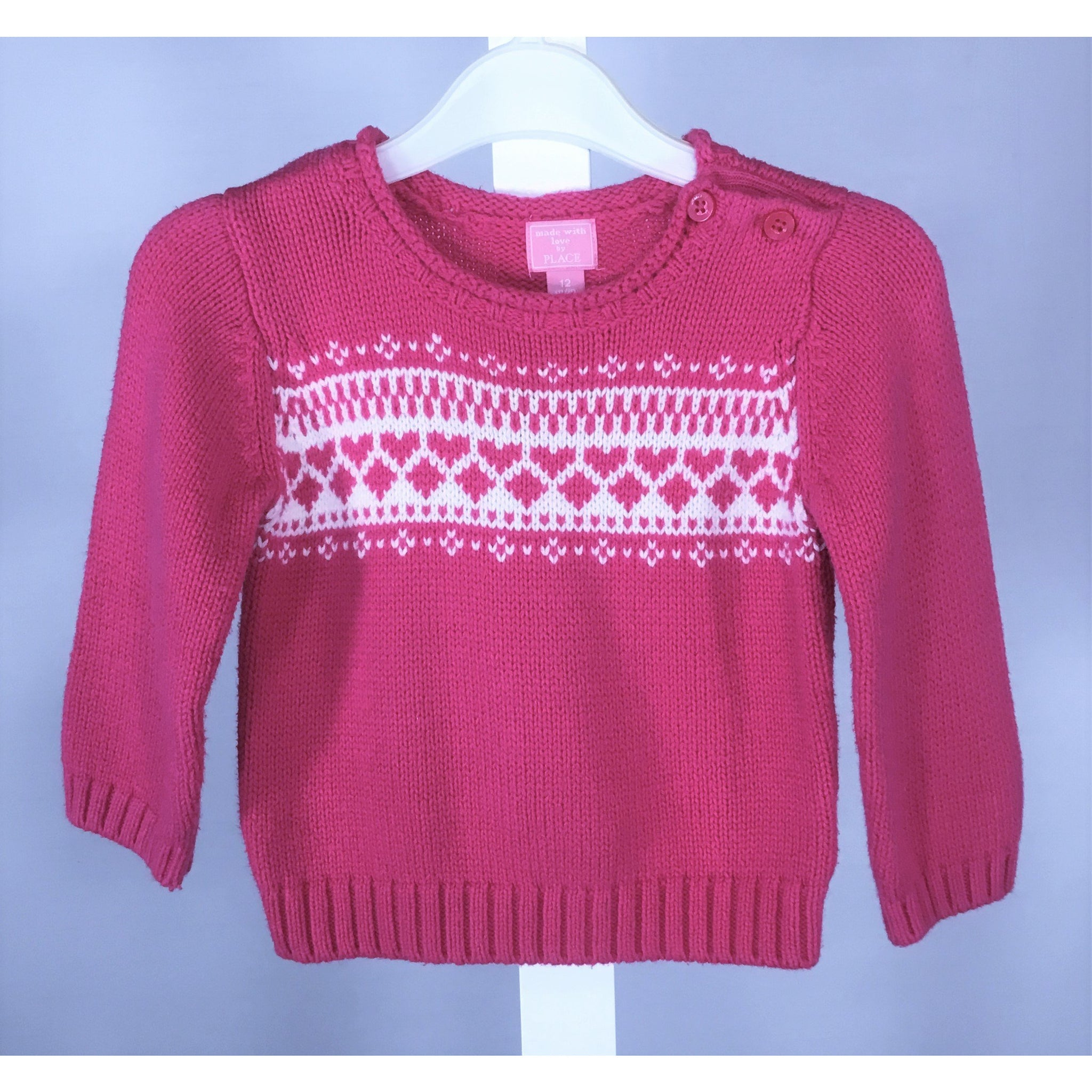 Children's Place Pink Sweater - size 12 months