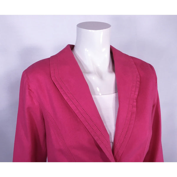 Northern Reflections Hot Pink Linen Cotton Jacket - Discoveries size M