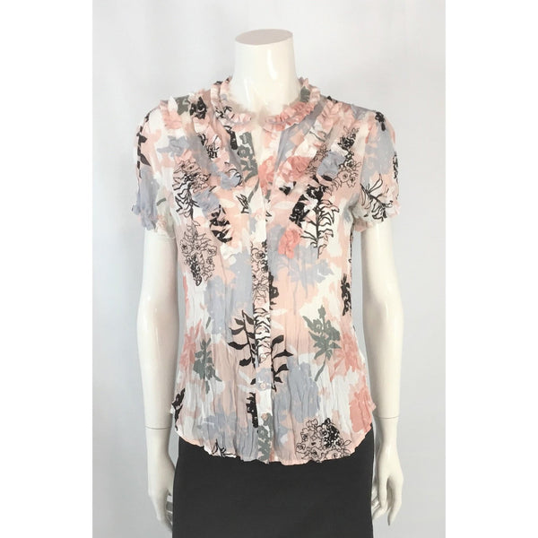 Sunny Leigh Print Blouse in Crinkle Fabric - Discoveries size M