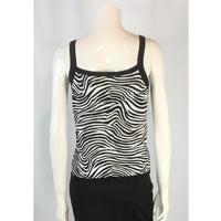 Nygard Zebra Pattern Top - Discoveries size M