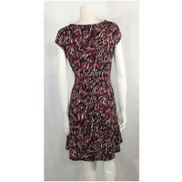 Cleo jersey print dress back view