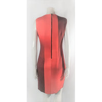 Elie Tahari red ombre dress
