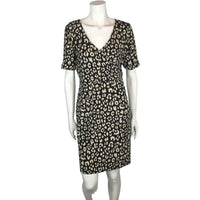 Alfred Sung animal print knit dress front view