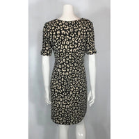 Alfred Sung animal print dress back view