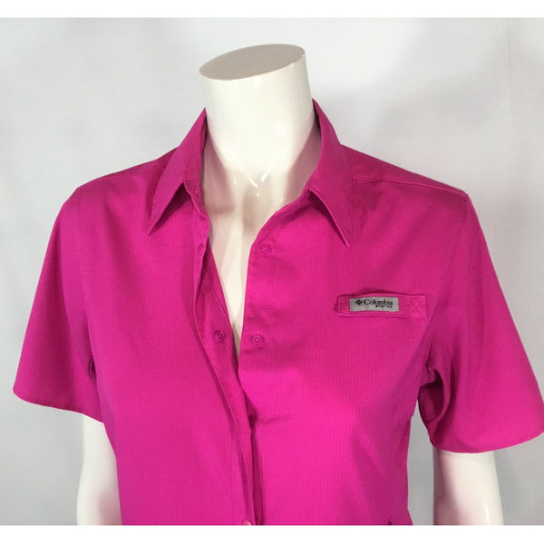 Columbia short sleeve pink shirt