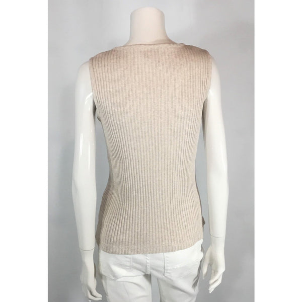 Spanner Oatmeal Tank Top in Rib Knit - Discoveries size M