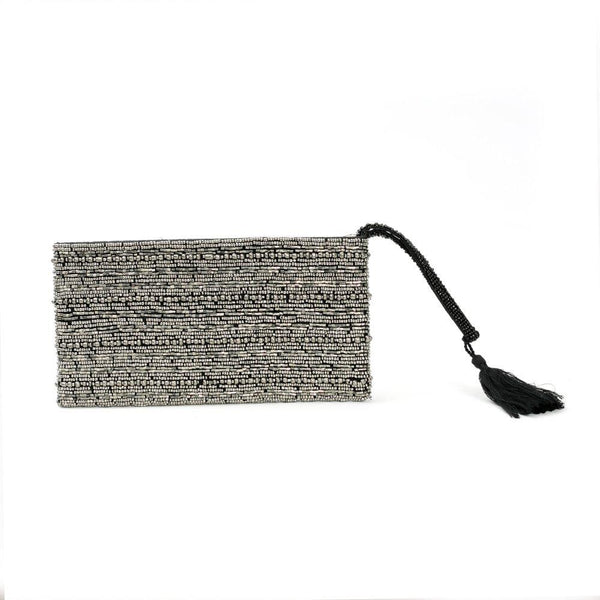 L.Naturel Concept Store - The Silver Beaded Clutch