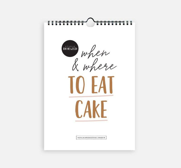 L.Naturel Concept Store - Verjaardagskalender - When & where to eat cake