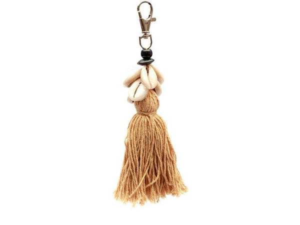 L.Naturel Concept Store - The Cowrie Tassel Keychain