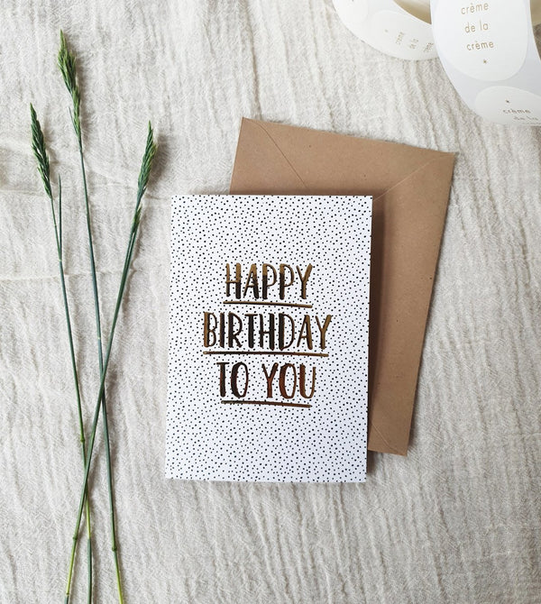 L.Naturel Concept Store - Happy Birthday To You | Goudfolie