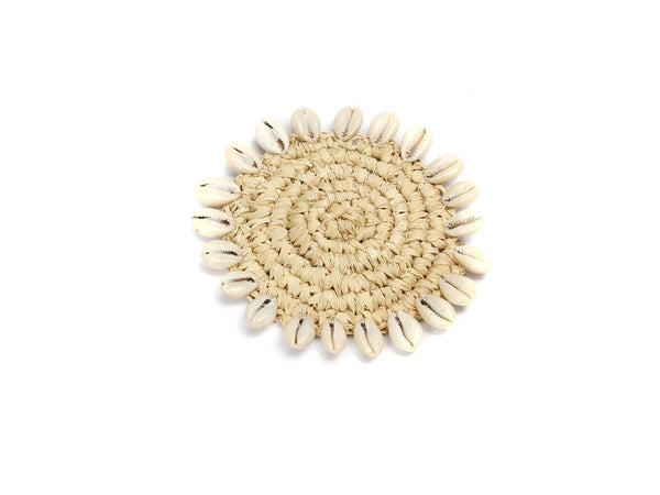 L.Naturel Concept Store - The Raffia Shell Coaster