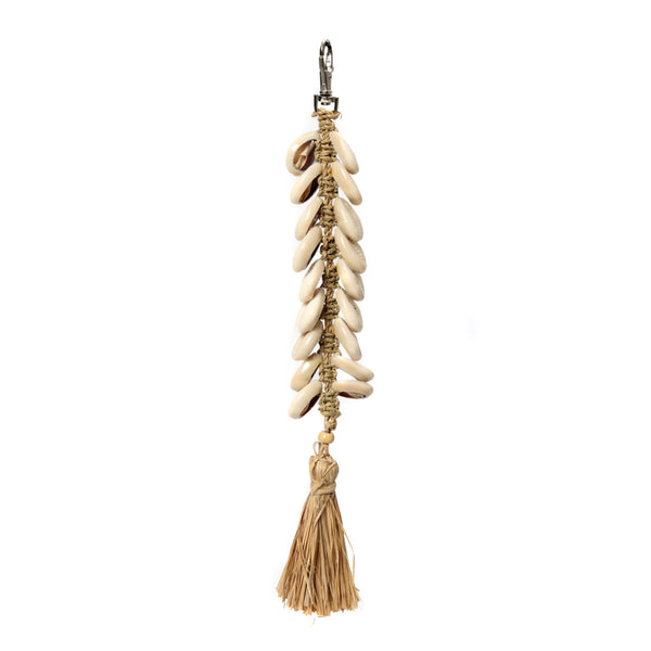 The Raffia Fishbone Keychain