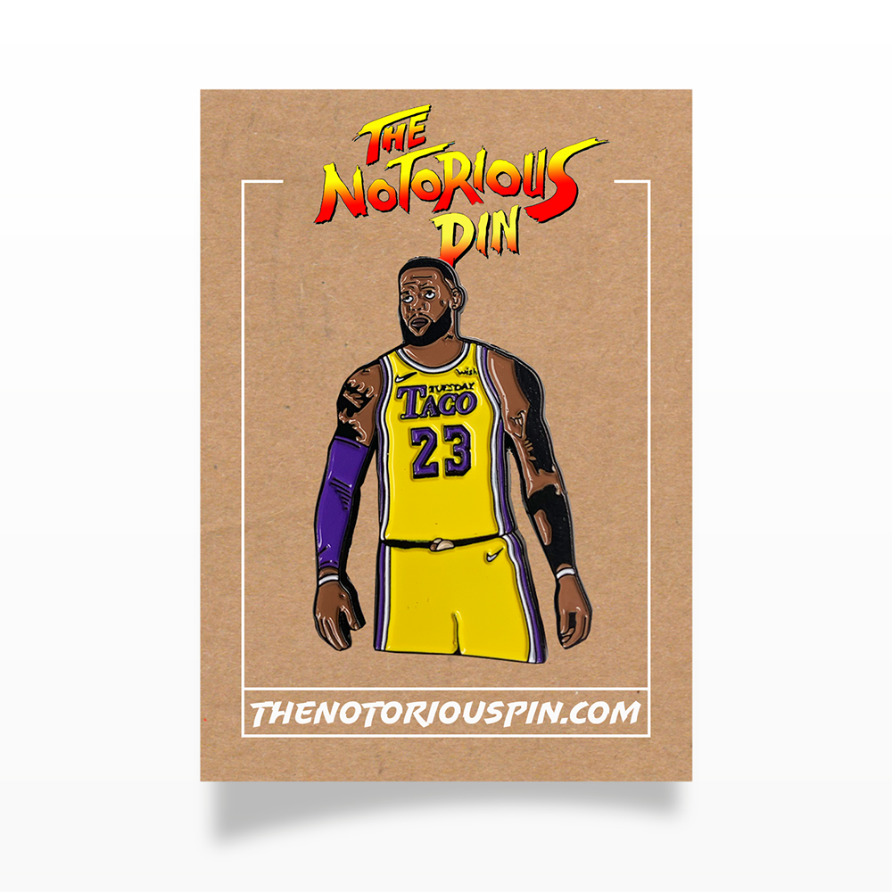 "LeBron James ""Taco Tuesday"" Enamel Pin"