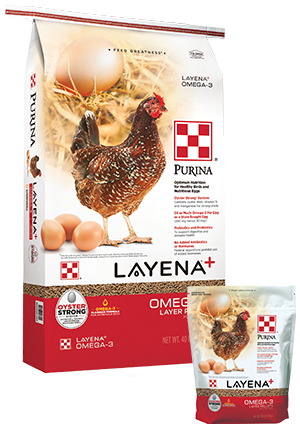 Purina Layena + Omega-3 Pellets