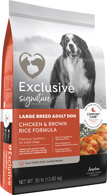 Exclusive Large Breed Adult Dog Chicken & Brown Rice Formula With Comfort Care